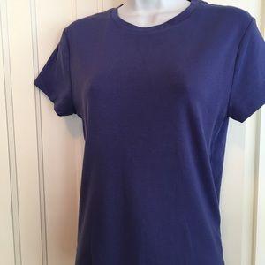 Calvin Klein Tee. NWOT in rich purple-blue color